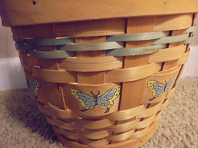 Butterfly Woven Wood Wicker Decorative Collectibles Hand Basket