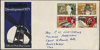 Lesotho 1971 Development Issue On First Day Cover