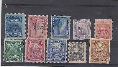Small selection of Nicaraguan stamps