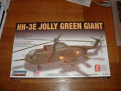 LINDBERG KIT for a US HH-3E JOLLY GREEN GIANT HELICOPTER Scale 1/72