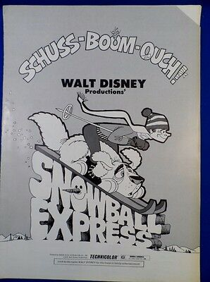 Vintage 1972 Disney Snowball Express with Ad Pad Press Kit Campaign Book RARE!