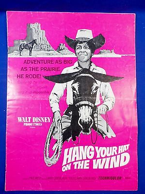 Vintage 1969 Disney Hang Your Hat on the Wind Press Kit Campaign Book RARE!