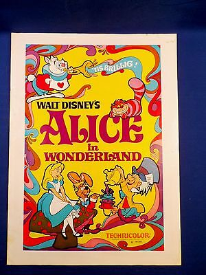 Vintage Disney 1974 Press Kit Alice in Wonderland Technicolor with Ad Pad RARE!