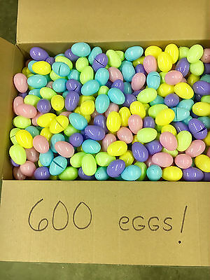 Lot of 600 Plastic Easter Eggs, Pastel Colors! BRAND NEW!