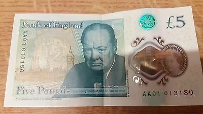 New £5 Note AA01