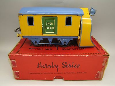 VINTAGE HORNBY SERIES O gauge SNOW PLOUGH RS681 in box TRAIN WAGON COACH