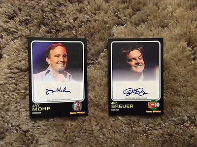 2013 Topps Wacky Packages Jay Mohr & Jim Bruer (2) Auto Lot