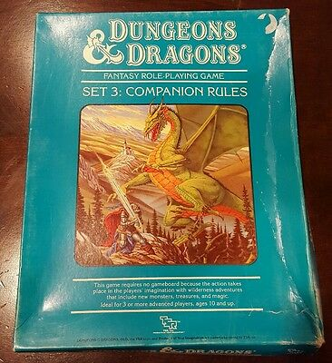 Dungeons and Dragons D&D Set 3: Companion Rules Box Set 1013