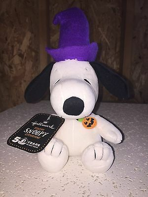 New 50 Year Hallmark Peanuts Snoopy Plush w/ Pumpkin Choker 9""
