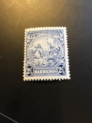 Barbados 1938 KGVI Badge of the colony without Postage & Revenue sg 251 MH