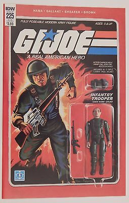 Gi Joe #225 - Grunt -  Action Figure Variant Cover By Adam Riches
