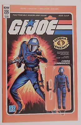 Gi Joe #226 - Cobra Commander -  Action Figure Variant Cover By Adam Riches