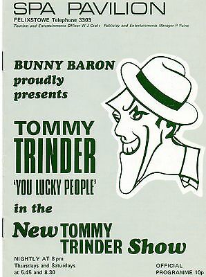 Felixstowe Spa 197? Programme  'you Lucky People' Tommy Trinder.