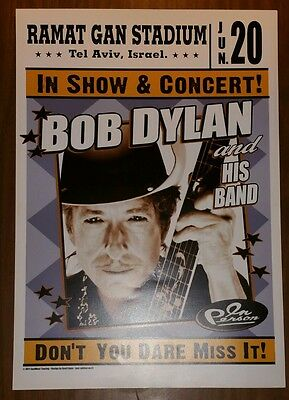Bob Dylan Concert Poster With Two Tickets From The Show