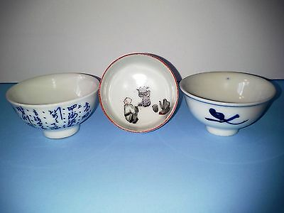 Set Of 4 Antique Signed Handpainted Japanese Sake Rice Wine Cups
