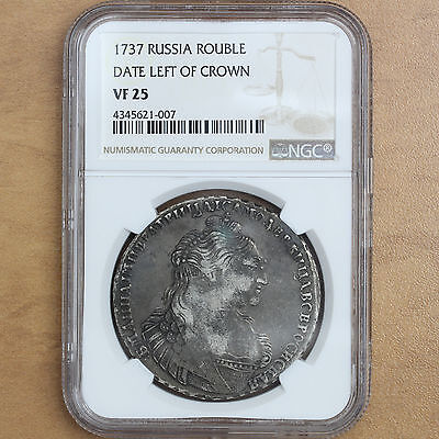 Russia – 1737 – Rouble - Anna - VF25 NGC - RARE - #690