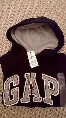 Gap Boys Logo Zip Hoodie Hooded Fleece Jacket Sweatshirt Age 4-5 Years,new