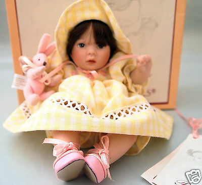 """PAULINE'S LIMITED EDITION DOLL 8 in. """"GINNY""""  in Yellow Gingham"""