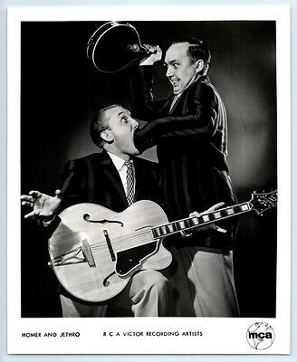 HOMER & JETHRO Vintage RCA RECORDS Publicity Photo COUNTRY MUSIC Grand Ole Opry
