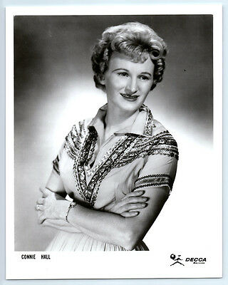 1960 CONNIE HALL Vintage DECCA RECORDS Photo COUNTRY MUSIC / Jimmie Skinner