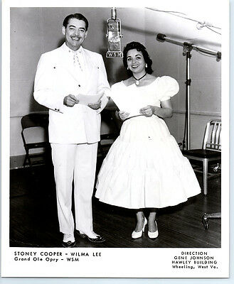 1950's STONEY & WILMA LEE COOPER Vintage GRAND OLE OPRY  Photo COUNTRY MUSIC