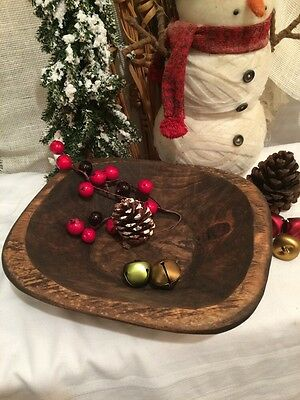 Primitive Small Out-of-Round Wood Dough Bowl~ Rustic~ Country Farmhouse
