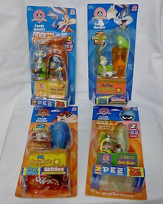 Looney Tunes Candy Hander Bugs Bunny Wile Coyote Taz Marvin Martian Sealed 1998