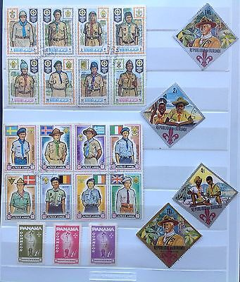 World Scouting Stamps (32), + 1 M/S & 4 Covers