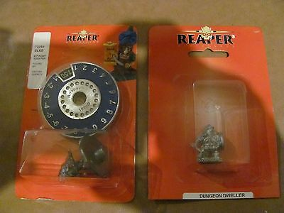MTG 1- 1995 Reaper Scyre High Count Counter and 1 Reaper Miniature.