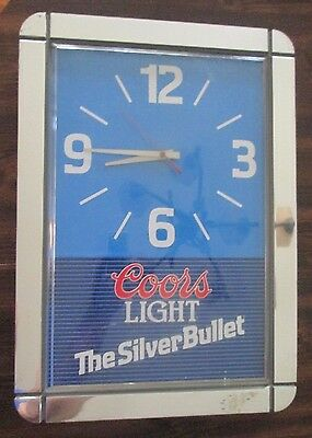 Coors Light Battery Operated Advertising wall clock 1989 non-illuminated WORKS