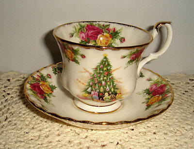 England Royal Albert Old Country Roses Christmas Magic Tea Cup Saucer 4 on offer