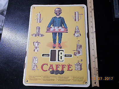 Negro Cafe Coffee Wall Display Changable Dates No Reserve