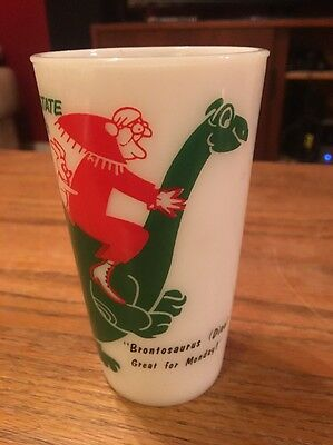 Sinclair Gasoline Oil Gas station  Dinosaur Logo Hazel Advertising Tumbler Glass