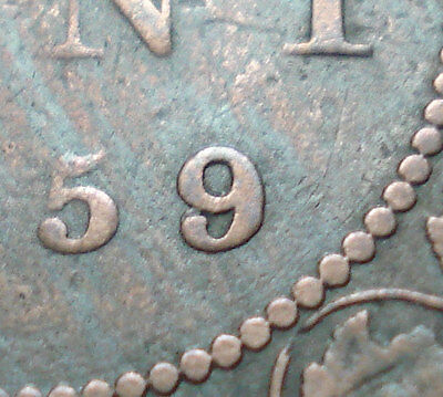 1859 Wide 9/8 Canada Large Cent In Vg-Fine Condition