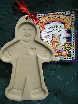 1992 Brown Bag Cookie Art Mold Gingerbread Man, Retired, Cookie Crafts Free Ship
