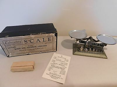 Vintage Pelouze Mfg Co Laboratory Scale Complete with Box