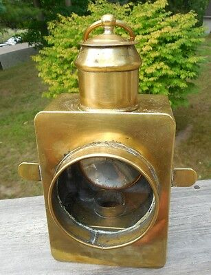 ORIGINAL 1800's BRASS SHIPS ENGINE ORDER TELEGRAPH OIL LAMP CHADBURN OIL LAMP