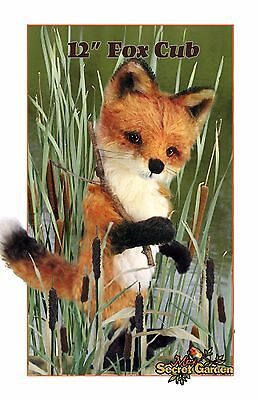 Mohair Realistic Fox Cub, Bear Making Pattern, DIY Fox Teddy Bear, Sew joint fox