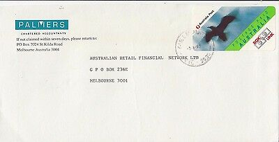 Stamp BOXLINK Australia Palmers Accountants cover used 1993 Melbourne locally