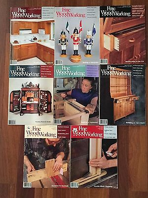 Fine Woodworking Magazine Back Issues #84-89 and 95 & 96; lot of 8