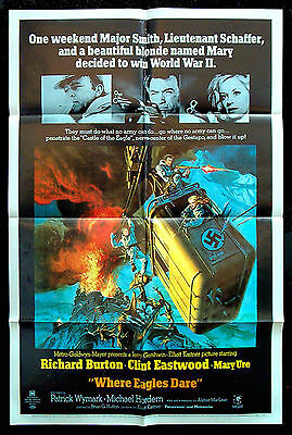 WHERE EAGLES DARE original 1968 US one-sheet CLINT EASTWOOD