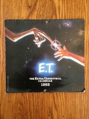 E.T. the Extraterrestrial 1983 Calendar Clean and Unused, No Writing