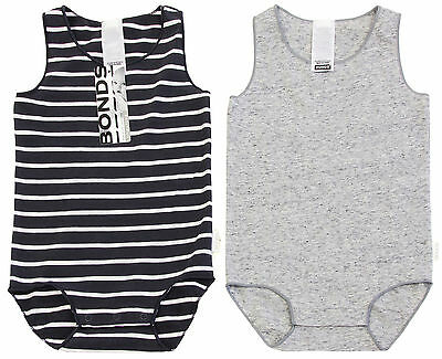 Bonds Wonderbodies Singletsuit 2 Pack - Solar System/Grey (18-24 Months)