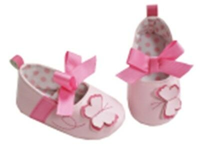 Hi-Hop Butterfly Bow Shoes (0-6 Months) - Pink