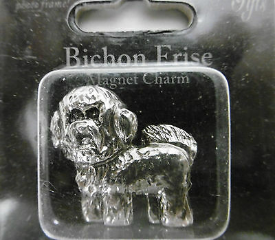 "Little Gifts ""BICHON FRISE""  Magnetic Charm Use With Magnet Photo Frame /New"