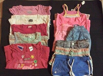 Girls size 2 summer tops and shorts