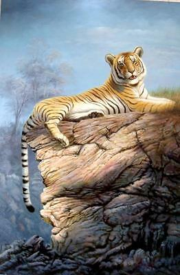 Realistic Oil Painting : Tiger 91x62CM ;36x24 Inches