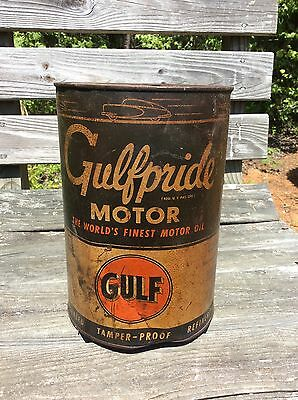 Gulfpride Gulf Motor Oil Can - 5 quarts