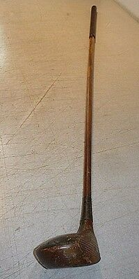 antique Wright & Ditson Driver all wood golf club. Wood shaft and wood head.
