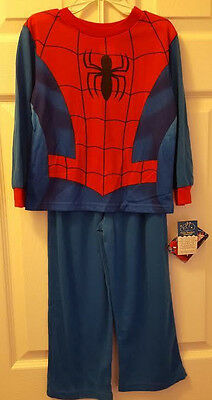 Spiderman 2 Piece Sleep Pajama Set Youth Size 4T Marvel New Nwt
